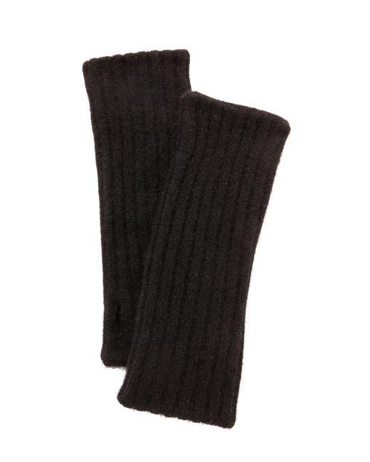 White + Warren | Black Cashmere Plush Rib Arm Warmers | Lyst