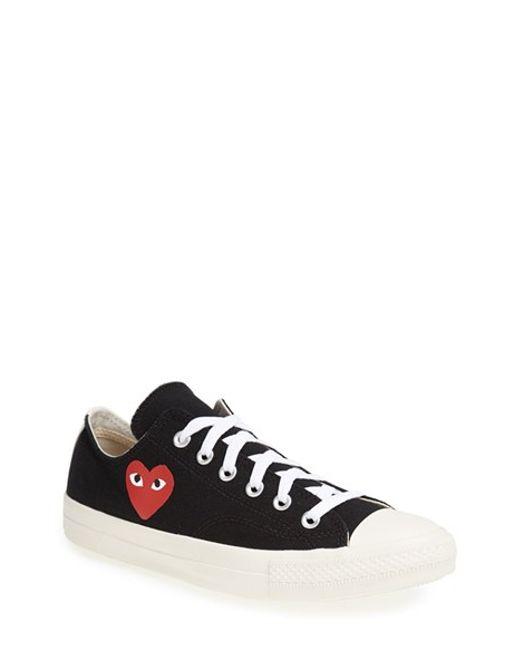 Comme des Garçons | Black 'Play' Low Top Sneaker  for Men | Lyst