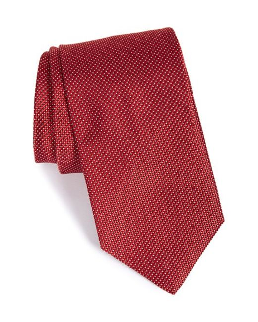 John W. Nordstrom | Red John W. Nordstrom 'benjamin' Grid Silk Tie for Men | Lyst