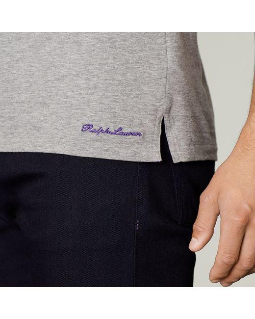 Ralph Lauren Purple Label | Gray Cotton Lisle T-shirt for Men | Lyst