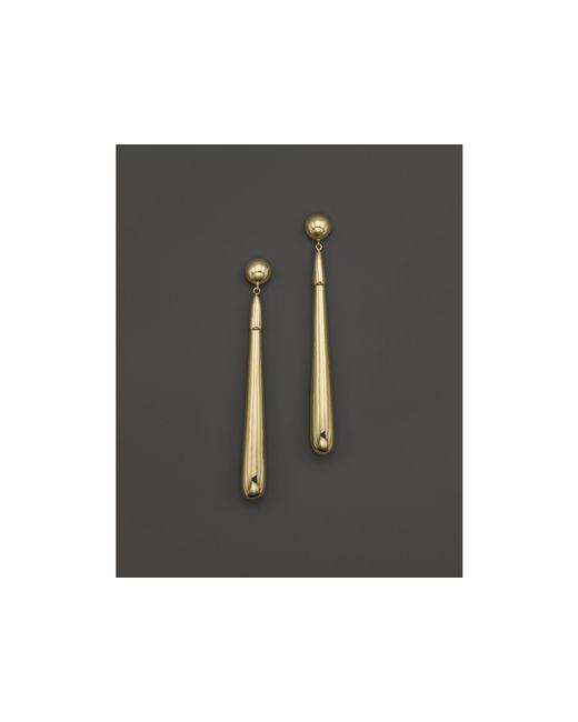 Ippolita | Metallic 18k Yellow Gold Glamazon Elongated Tear Drop Earrings | Lyst