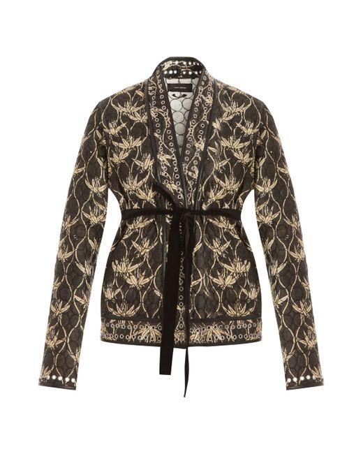 Isabel Marant | Gold Palm Tree Jacket With Belt | Lyst
