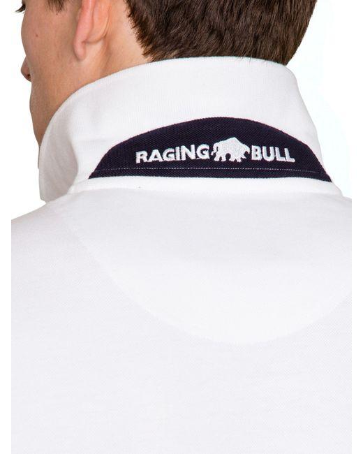 Raging Bull | White New Signature Polo Shirt for Men | Lyst