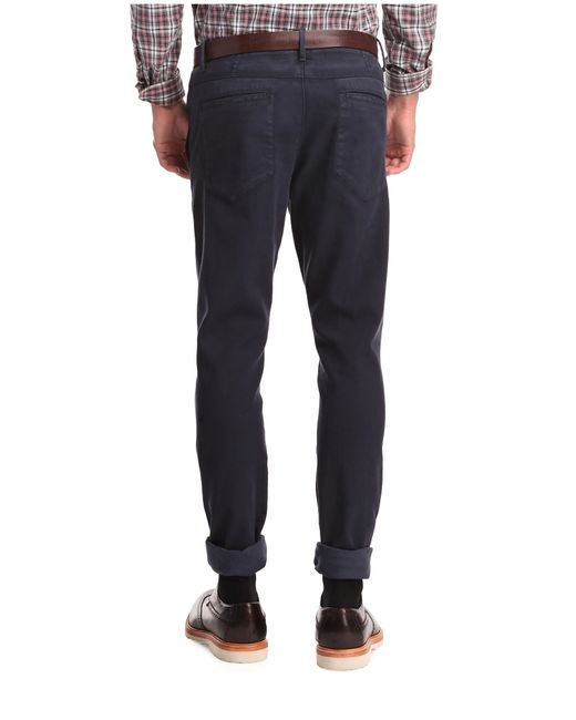 BOSS Orange | Blue Textured Slim-fit Trousers In Cotton Blend: 'sandrew-d' for Men | Lyst