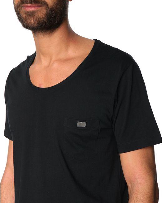 Diesel Zotikos Black Wide Neck T Shirt For Men Lyst