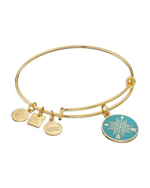 ALEX AND ANI | Metallic Charity By Design Arrows Of Friendship Charm Bangle | Lyst