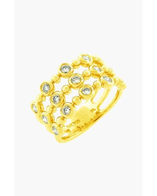 Bony Levy | Yellow Diamond Three-row Stack Ring (nordstrom Exclusive) | Lyst