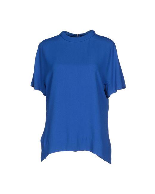 Womens Bright Blue Blouse 7