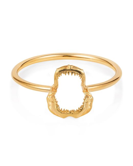 Lee Renee   Metallic Mini Shark Jawbone Ring Gold Vermeil   Lyst