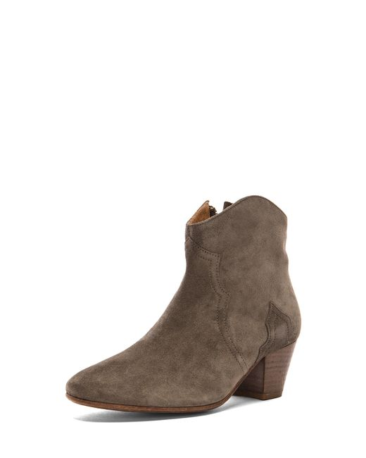 isabel marant dicker suede boots in beige save 37 lyst. Black Bedroom Furniture Sets. Home Design Ideas