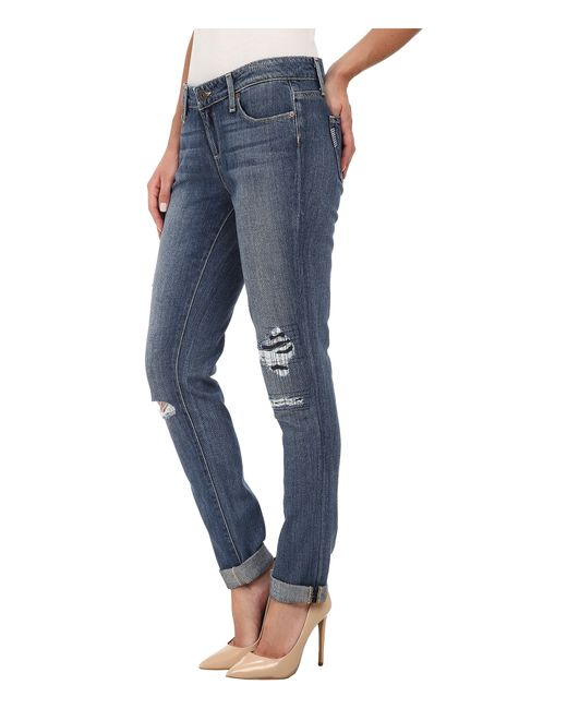 PAIGE | Blue Jimmy Jimmy Skinny In Esme Destructed | Lyst
