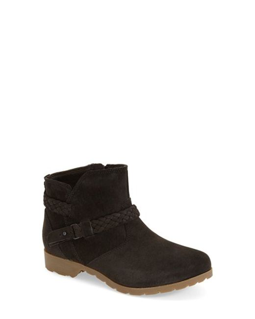 Teva | Black Delavina Suede Ankle Boots | Lyst
