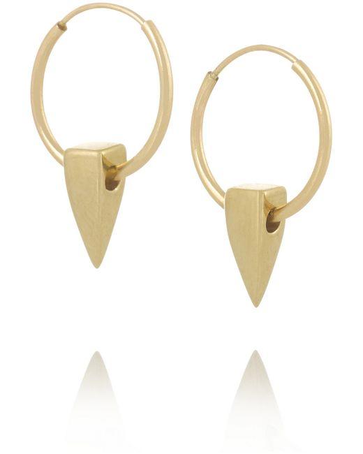 Wendy Nichol Metallic 14-Karat Gold Hoop Earrings