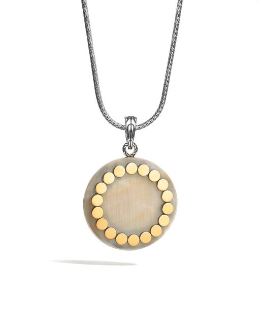 John Hardy | Metallic Pendant Necklace With Horn | Lyst