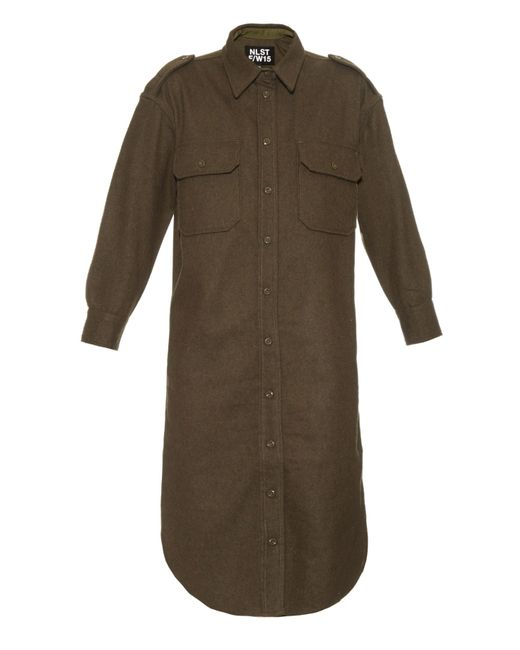 NLST | Natural Officers Wool-flannel Dress | Lyst