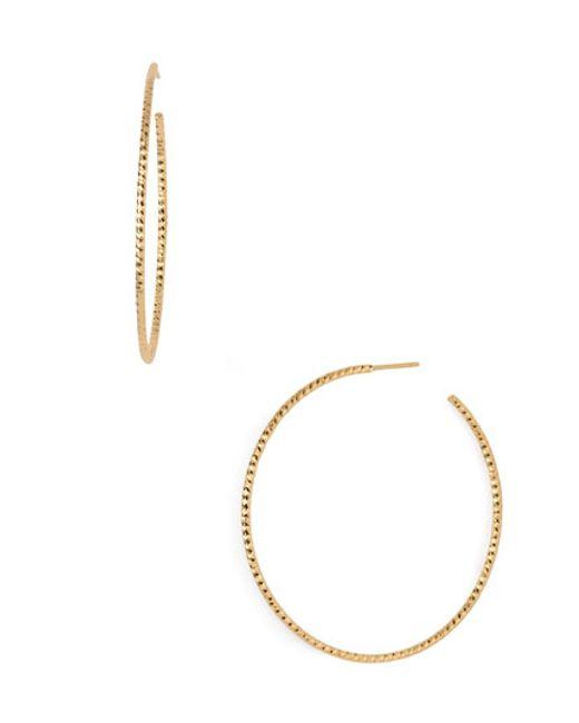 Argento Vivo | Metallic Hoop Earrings | Lyst