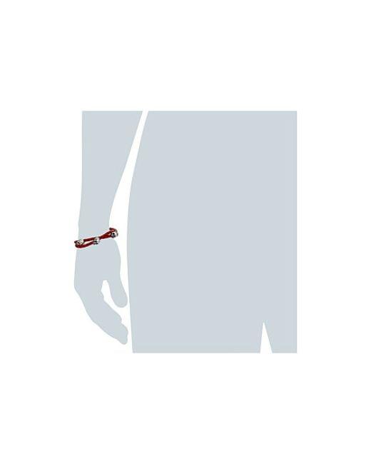 King Baby Studio | Thin Braided Red Leather W/ Hamlet Skulls Double Wrap Bracelet for Men | Lyst