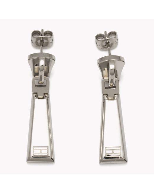 Tommy Hilfiger | Metallic Drop Earrings | Lyst