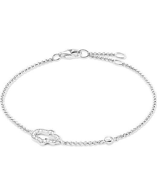 Thomas Sabo | Metallic Fatima's Garden Hand Of Fatima Sterling Silver And Zirconia-pavé Bracelet | Lyst
