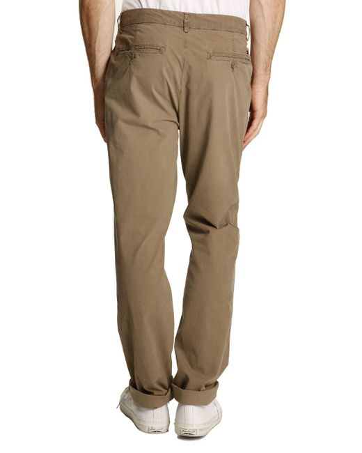 tommy hilfiger hudson beige light poplin stretch chinos in beige for men lyst. Black Bedroom Furniture Sets. Home Design Ideas