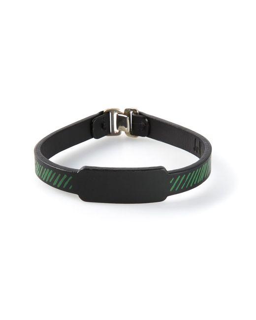 JvdF | Black Hand-painted Repp Stripe Bracelet for Men | Lyst