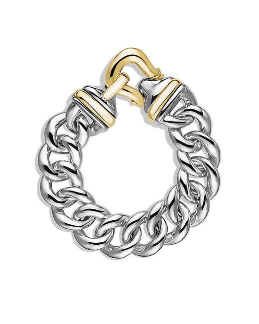 David Yurman | Metallic Buckle Single-row Bracelet With Gold | Lyst