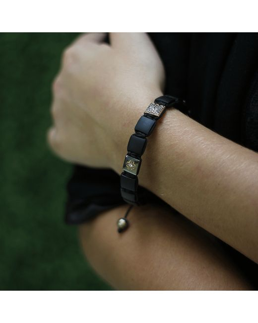 Shamballa Jewels | Black Onyx And Diamond Lock Bracelet | Lyst