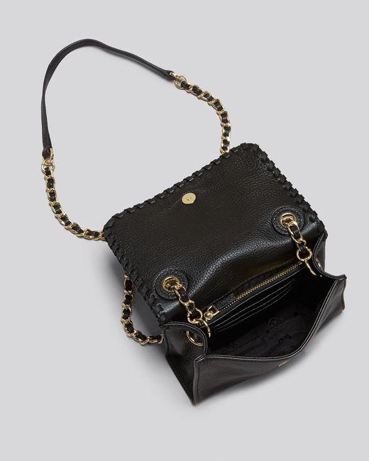 Tory burch shoulder bag marion shrunken in black lyst