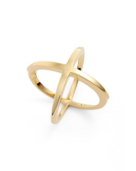 Elizabeth and James | Metallic 'windrose' Ring | Lyst