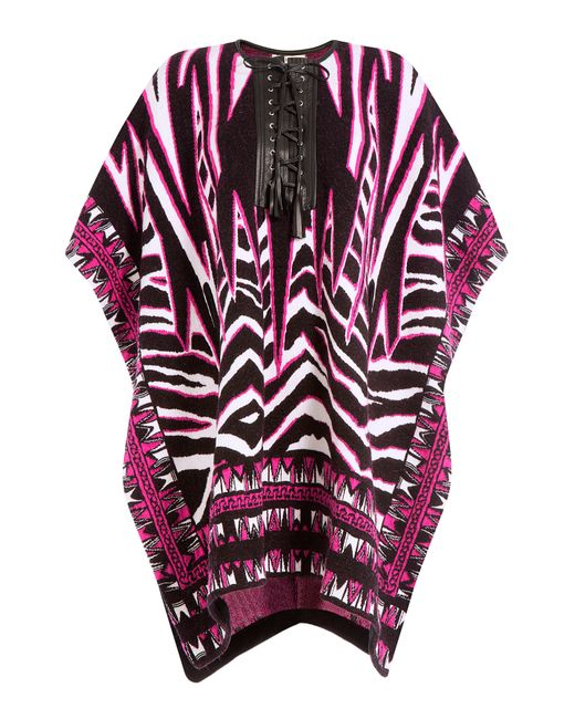 Emilio Pucci   Purple Wool And Mohair Cape With Leather - Multicolor   Lyst