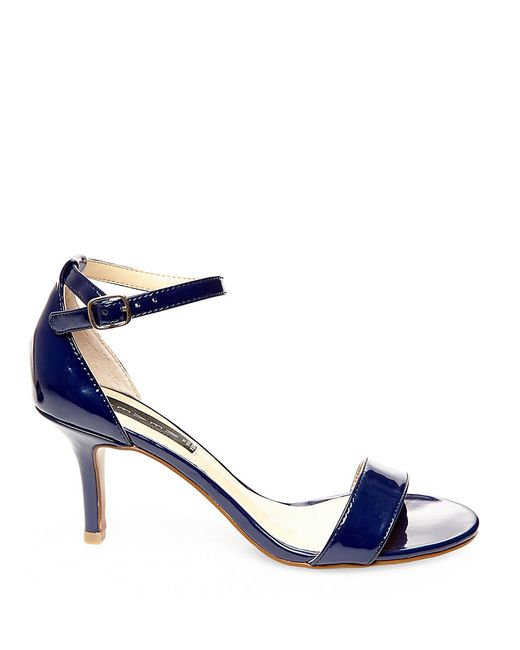 Steven by Steve Madden | Blue Vienna Leather Open Toe Strappy Sandals | Lyst