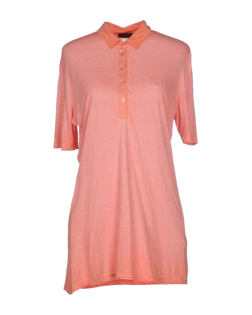 Stussy Polo Shirt In Pink Salmon Pink Lyst