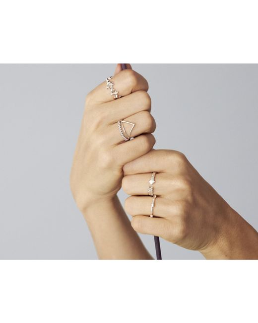 Odette New York | Metallic Arrow Ring Silver | Lyst