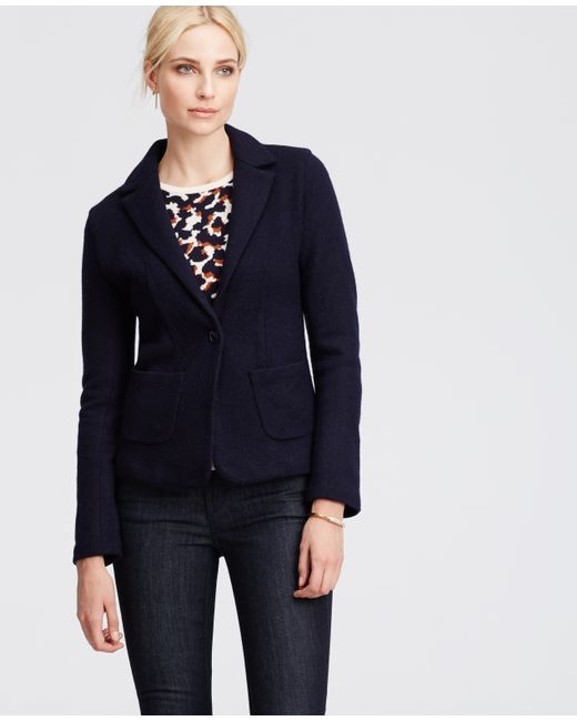 Ann Taylor | Blue Wool Riding Jacket | Lyst