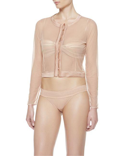 La Perla | Pink Sheer Button Up Jacket | Lyst