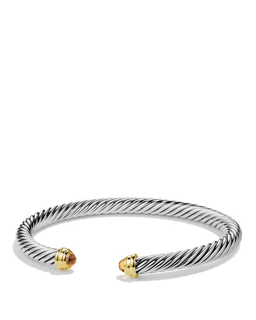 David Yurman | Metallic Cable Classics Bracelet With Peridot And Gold | Lyst