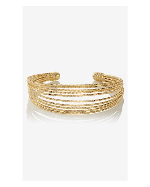 Express | Metallic Shiny Textured Cuff Bracelet | Lyst