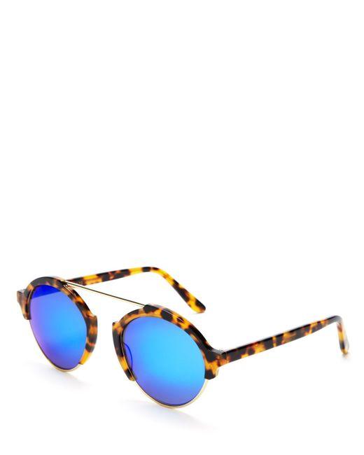 Illesteva | Brown Milan Iii Mirrored Sunglasses, 54mm | Lyst