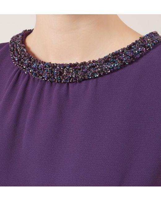 Hobbs   Purple Alwena Dress   Lyst