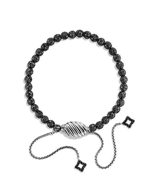 David Yurman | Petite Pave Bracelet With Black Diamonds | Lyst
