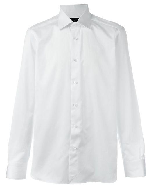 Ermenegildo zegna cutaway collar shirt in white for men lyst for White cutaway collar shirt
