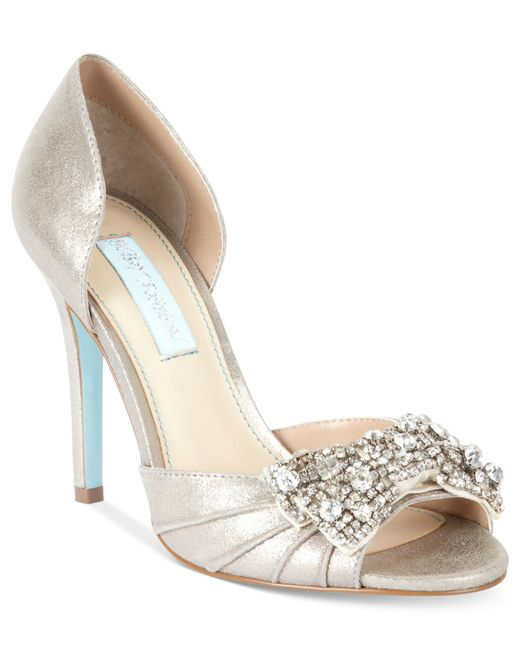 Something Blue By Betsey Johnson Shoes Gown Evening Pumps