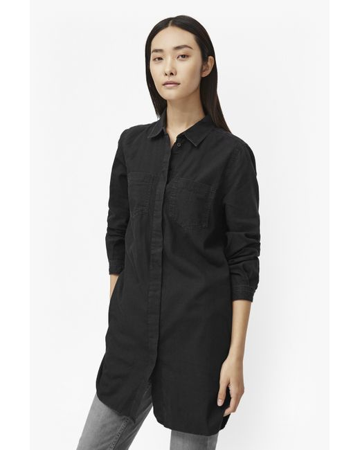 French Connection Pistols Cotton Shirt Dress In Black