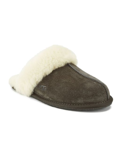 Ugg | Brown Women's Scuffette Ii Suede Slippers | Lyst