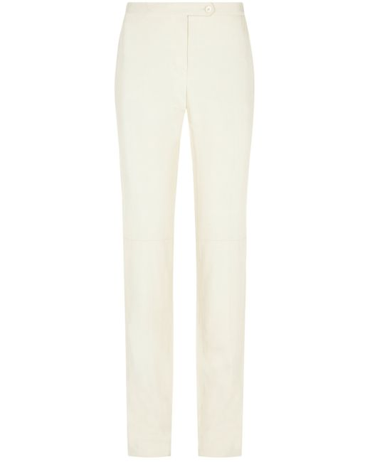 Nicole Farhi | White Textured Cigarette Pant | Lyst