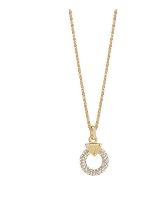 Guess | Metallic Embrace Me Necklace | Lyst