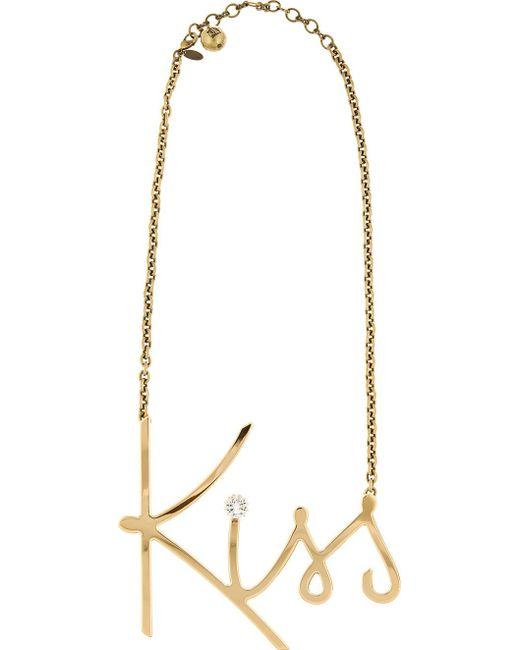 Lanvin | Metallic 'kiss' Necklace | Lyst