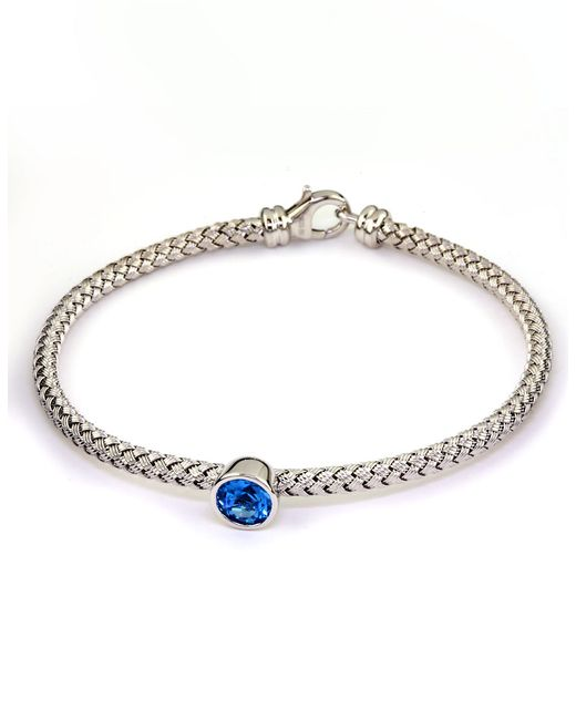 Effy | Balissima Blue Topaz And Sterling Silver Woven Bracelet | Lyst
