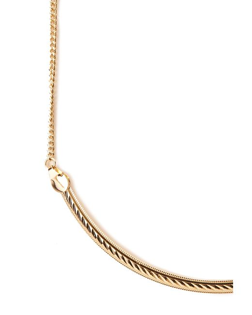 Forever 21 Metallic Rhinestone Statement Necklace