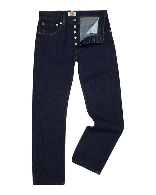 Levi's   Blue 501 One Wash Straight Jeans for Men   Lyst